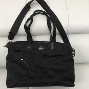 Coach signature C black diaper bag purse travel